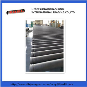 Concrete pump heat treatment single wall harden delivery pipe