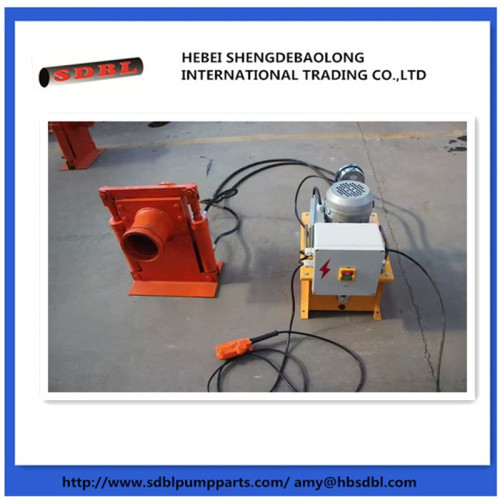 Concrete pump parts hydraulic shut off valve and manual shut off valve