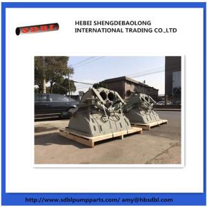 Putzmeister concrete pump hopper assembly