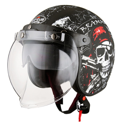 Multi-functional Open Face Motorcycle Helmet with Sheild