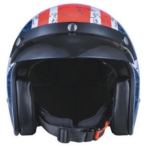 Captain America Open Face Motorcycle Helmet