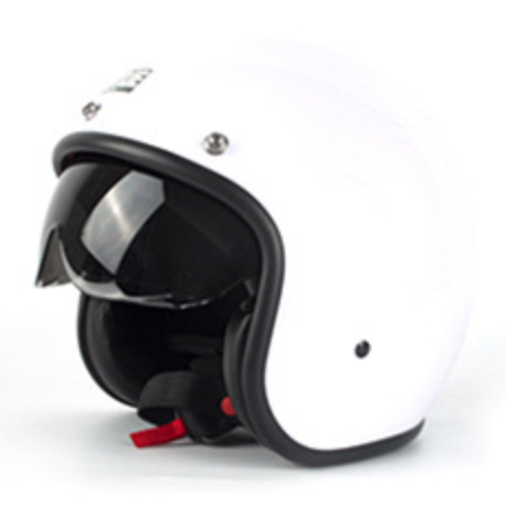 vintage open face motorcycle helmet
