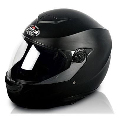 Black Classic Full Face Motorcycle Helmet