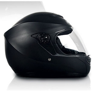 Black Classic Full Face Motorcycle Helmet