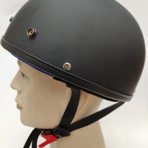 Half Face Motor Cycle Helmets Black Electronic Cooling Casque Franchise DOT CE Approved Motor Bike