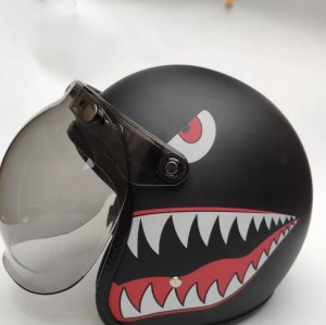 Custom Scorpion Motorcycle Helmets 3/4 Open Face Black Shark DOT Torc Helmets For Venom Motorbike