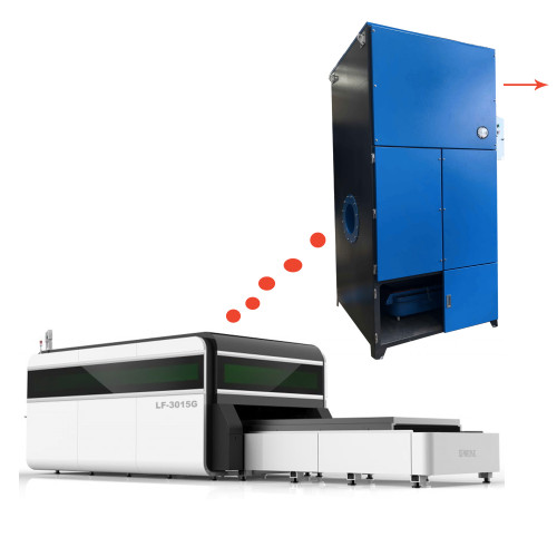 ACMAN 8000CMH/4700CFM Cartridge Dust Collector with Reverse Pulse Jet Dust Extractor for Laser Cutter