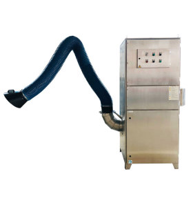 ACMAN Mobile Cartridge Dust Collector with Flexible Arm and Extraction Hood-Welding Fume Mist Collector