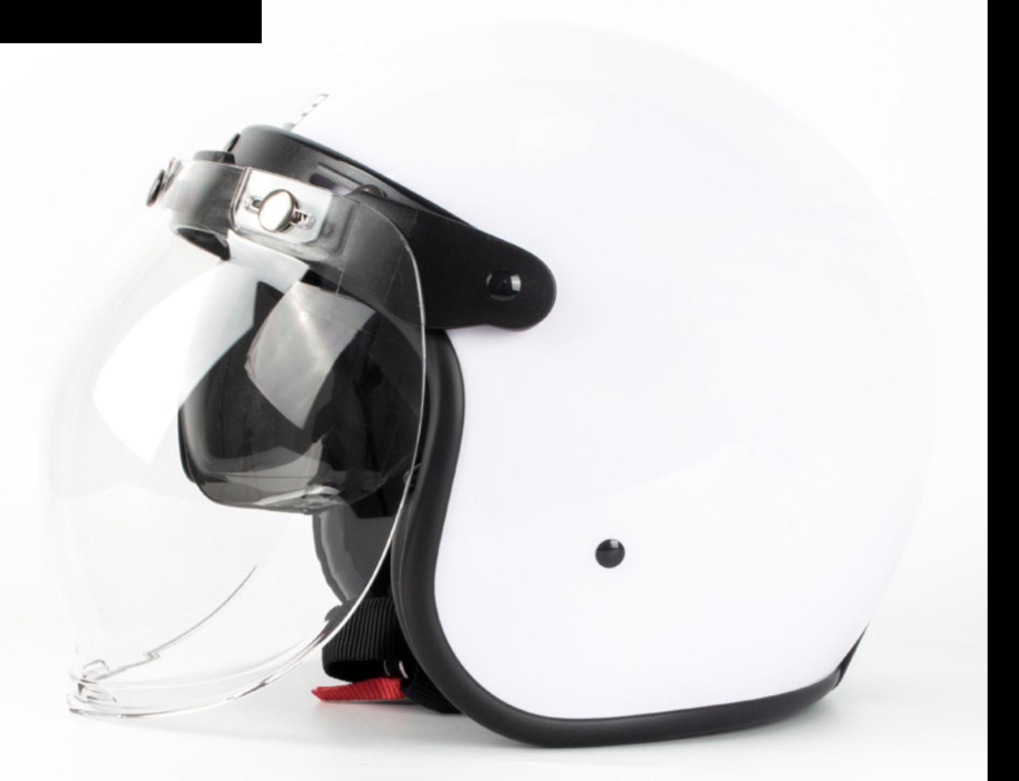 vintage open face helment