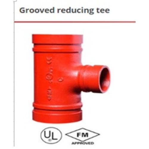 Grooved reducing tee