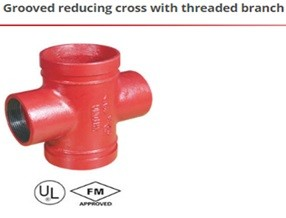 Grooved redycing cross with threaded branch