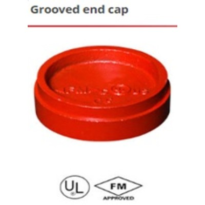 Grooved drain cap with concentric hole
