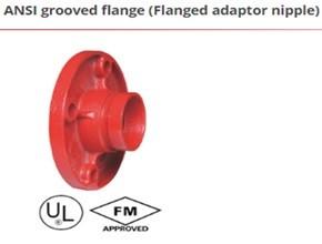ANSI grooved flange (Flanged adaptor nipple)