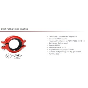 Quick rigid grooved coupling