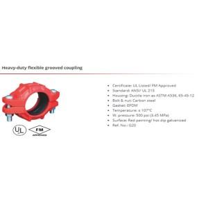 Heavy-duty flexible grooved coupling