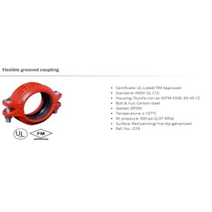 Flexible grooved coupling