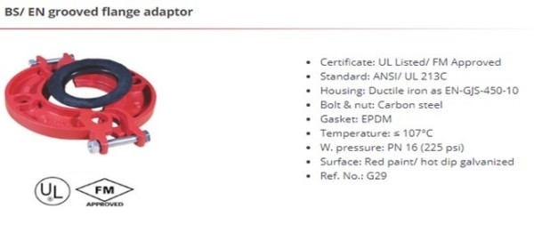 BS/EN grooved flange adaptor