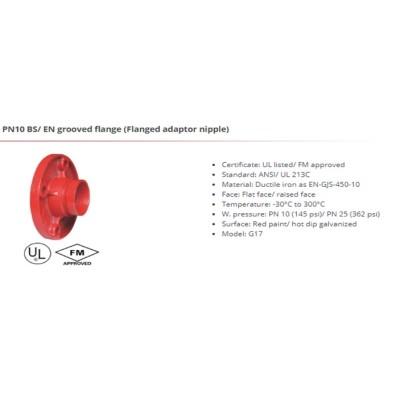 PN10 BS/EN grooved flange(Flanged adaptor nipple)
