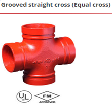 Grooved straight cross
