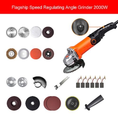 LOMVUM 2000W Electric Angle Grinder Tools Machine Grinding Cutting Grinding Metal Wood