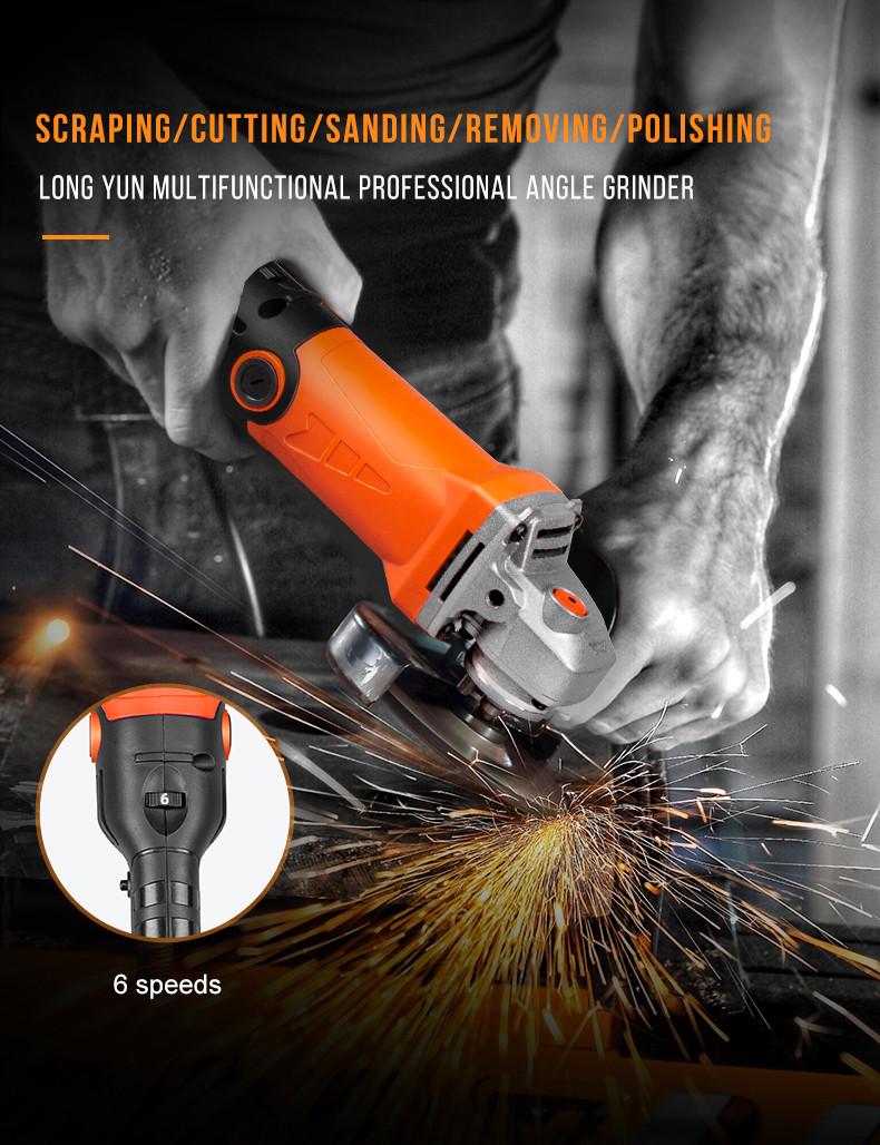 LOMVUM Multifunctional Professional Electric Angle Grinder