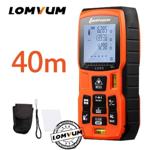 LOMVUM 40M Laser Ruler Digital Distance Meter Measurer Range Finder Laser Metreler