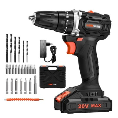 20V Electric Impact Brushless Cordless Screwdriver Mini Drill Li-Ion Lithium Battery DIY Power Tool