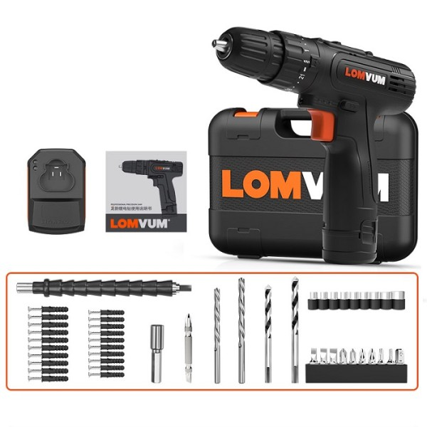 Electric Cordless 2000mAh Lithium-Ion Battery Impact Hammer Drill