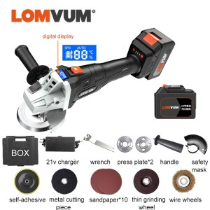 Power 21V Lithium Battery Brushless Cordless Grinding Multi-function Angle Grinder