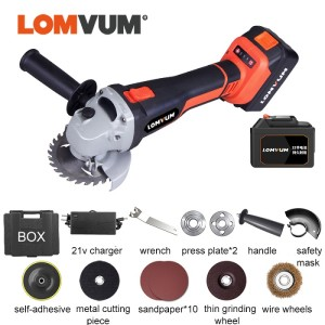Power 21V Lithium Battery Brushless Cordless Grinding Angle Grinder