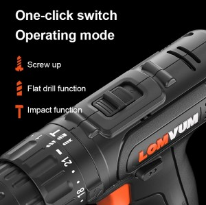 Double Speed Cordless Screwdriver Mini Rechargeable Drill