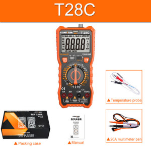 T28B/T28C NCV Digital Portable Digital Multimeter 6000 counts AC/DC Voltage Meter Voltmeter Tester Meter Handheld LED Large Screen