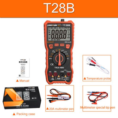 T28B/T28C NCV Digital Portable Digital Multimeter 6000 counts AC/DC Voltage Meter Voltmeter Tester Meter Handheld LED Large Screen