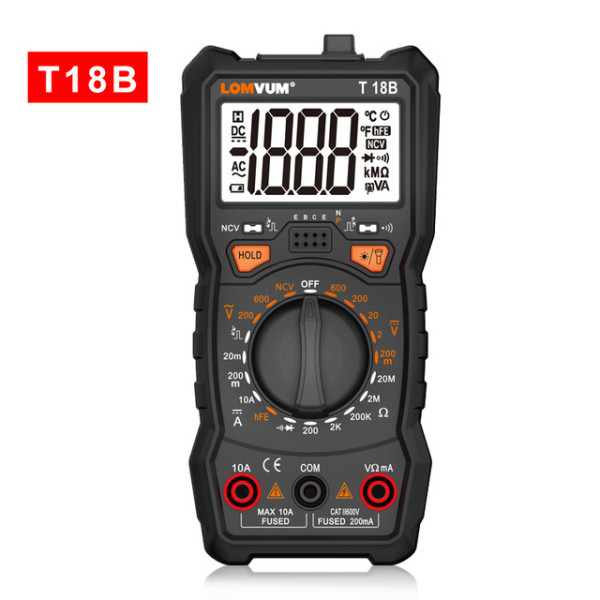 T18A/B/C/D/E Intelligent Multimeter 6000 Count Digital High-precision Automatic Multi-function Portable Anti-burn Digital Table