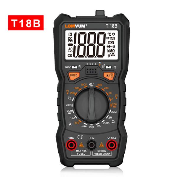 T18A/B/C/D/E Intelligent Multimeter 6000 Count Digital High-precision Automatic Multi-function Portable Anti-burn Digital Table
