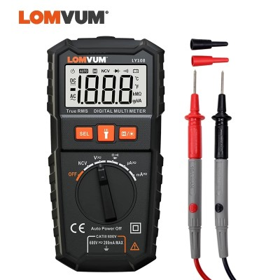 LY108 LOMVUM NCV Digital Multimeter Auto Ranging AC/DC voltage Meter Flash Back light Large Screen Ohm Tester