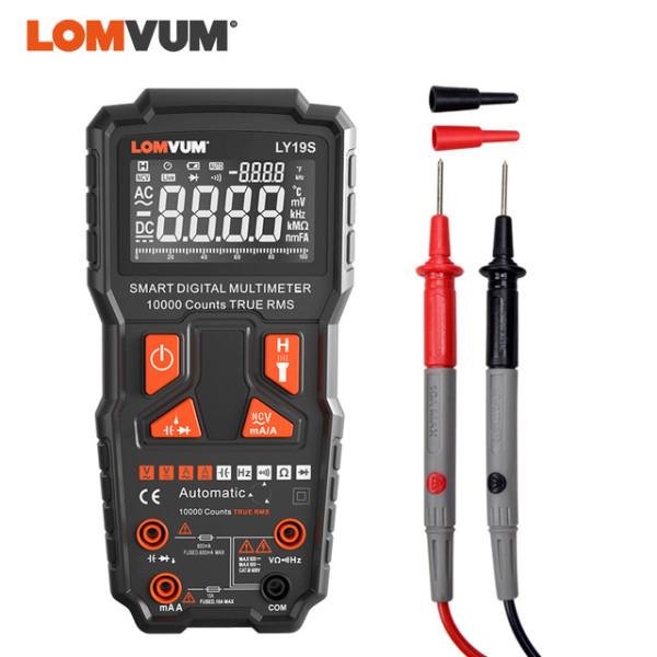 LY19S LOMVUM NCV Digital Multimeter 10000 counts Auto Ranging AC/DC voltage meter Flash light Back light Large Screen