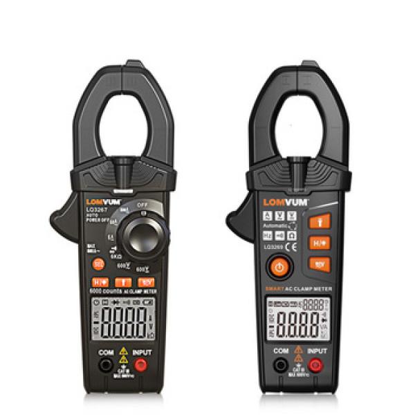 LQ3267/ LQ3269 LOMVUM Digital Clamp Meter Multimeter Mini AC/DC Current Voltage AutoRange Non-Contact 5999 Count 600A Ohm Current Voltage Tester
