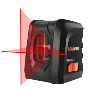 LOMVUM Mini Horizontal and Vertical Cross Line 360 Self-leveling Portable 360 laser level