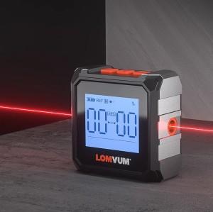 LOMVUM Digital Inclinometer Level Protractor Magnetic Electronic Level Spirit Box 360 Degree Mini Electronic Digital Protractor