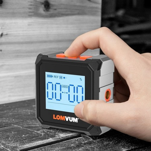 LOMVUM Digital Inclinometer Level Protractor Magnetic Electronic Level Spirit Box 360 Degree Mini Electronic Digital Protractor