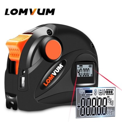 LOMVUM Rechargeable USB Charging Digital Tape Measure 5m LCD Digital Display Laser Range Finder 5M laser distance meter