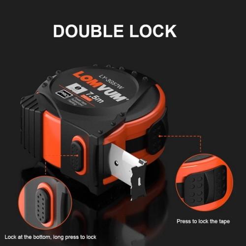 LOMVUM 5M Metric British System Auto Lock Measurement Tape 7.5M Tape Measure Retractable 3M Measuring Tape Inches Centimeters