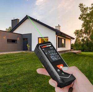 LOMVUM LYA Laser Rangefinder Green Beam Digital Laser Distance Meter Battery-powered 100m Range Finder Tape Distance Measurer