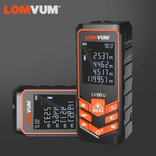 LOMVUM 66U Battery-Powered Auto Level Finder Multifunction Distance Meter Night Vision Laser Rangefinder Measurement Tool