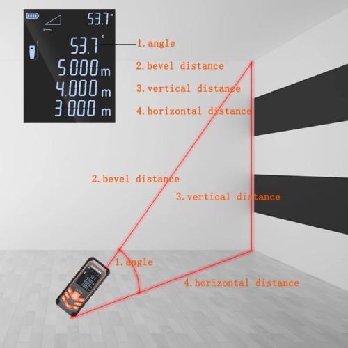 LOMVUM LV 77U Rechargeable Voice broadcast Laser rangefinder Digital Laser Distance Meter USB-Charge Electrical Level tape Laser distance measurer