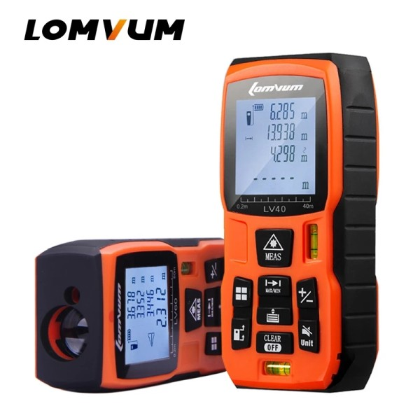 LOMVUM LV-B 40M 60m 80m 100m Laser Rangefinder Digital Laser Distance Meter Battery-powered Laser Range Finder Tape Distance Measurer