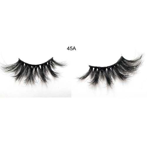 100% handmade real 45A mink 3D Strip Eyelashes