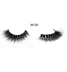 3D mink false eyelashes wispies for women's makeup