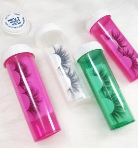 Wholesale customization Pill bottle mink lashes 25mm eyelashes 3d medicine bottle With Custom box.